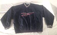 Vintage 90s Reebok Windbreaker Pullover Mens Size Medium Blue Big Logo Hip Hop