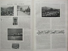 1902 PRINT ~ ROUND THE WORLD AUSTRIA WINTER RESORTS ICE RINK INNSBRUCK SALZBURG