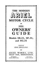 (0100) 1931-1932 Ariel SB31, SF31 & SG31 owners guide