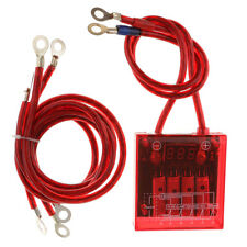Car Voltage Stabilizer Fuel Saver Regulator & Grounding Earth Cables Red