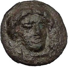 GELA in SICILY 350BC Demeter River God Gelas Rare Ancient Greek Coin RARE i51431