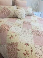 Queen Double Paris Floral Coverlet Bedspread Linens n Things Cotton Bed Cover