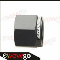 Aluminum Alloy 6AN AN6 AN-6 Flare Block Off Cap Fitting Adapter Black