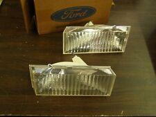 NOS OEM Ford 1983 Thunderbird Bumper Park Lights Marker Lamps Pair T-Bird