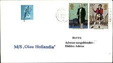 MF England Schiffspost Ship Cover MS OLAU HOLLANDIA 86 Seepost Shipmail Schiff