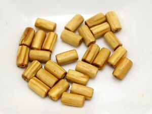 200 Natural Pattern Tube Wood Beads~ Wooden Spacer 5X8mm