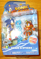 "SONIC BOOM STICKS & SONIC FIGURE SET 3""  Sonic The Hedgehog 2-pack"