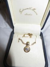 Diamond pendant &gold chain.rub over setting from Fortnum & Mason  VALENTINES !