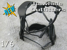 1/6 Genuine Leather Black Underarm Duel Holster with Harness Fully Adjustable