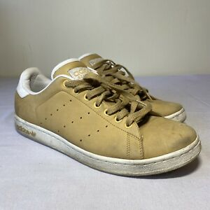 Adidas Stan Smith 2005 Tan Suede Lace Up Low Top Sneakers Mens Size 11.5