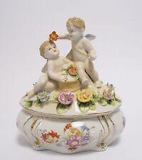 Antiquitäten- & Kunst-Dose aus Porzellan mit Engel-Motiv