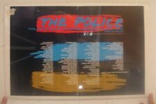 Police Poster Trade Ad Synchronicity 1983/84 Thank You List