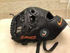 "Nike PPRO Pro Gold 10.5"" Miami Hurricanes Baseball Glove Left Hand Throw"