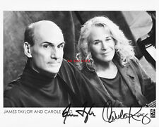 CAROLE KING & JAMES TAYLOR Signed 8x10 Autographed Photo Reprint