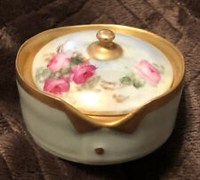 Hand Painted Roses ~ Rosenthal Bavaria~ Collar And Button Box