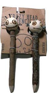 CRAZY HEAD PENCIL PIN HEAD & SCREW HEAD DOLL  Eco-friendly set NEW