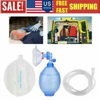 USA Manual Breathing Resuscitator PVC Adult Ambu Bag Simple First Aid kit Tool