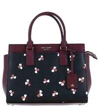 Kate Spade Cameron Dusk Buds Ditsy Medium Satchel - Black