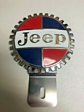 NEW Vintage Jeep License Plate Topper - Chromed Brass - Great gift item!