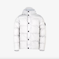 Stone Island Junior Puffer Jacket - Light Grey - REDUCED, WAS £395, NOW £295!