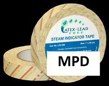 "NEW AUTOCLAVE STERILIZATION STEAM INDICATOR TAPE 1"" X 60 YARDS"
