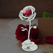 Rose With Swarovski Crystal Romantic Valentines Gift Ideas For Her Love Gifts