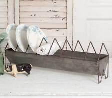 Vintage Style Shabby Chic Chicken Feeder Dish Plate Rack Fixer Upper Farmhouse