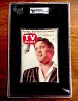 TV Guide 1956 Elvis Presley Issue #180 Encapsulated Slabbed EX/MT GAI GRADED COA