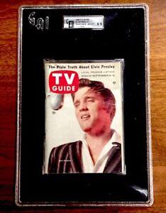 TV Guide 1956 Elvis Presley Issue #180 Encapsulated Slabbed EX/MT 1st GAI GRADED