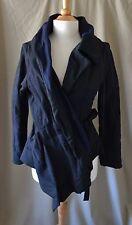 Ivan Grundahl Black & Blue Wool Blend Jacket Sz 38/M