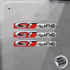 PEGATINA PEUGEOT GT LINE 206 308 DECAL STICKER AUFKLEBER AUTOCOLLANT
