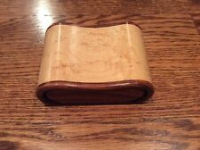 King wood & Birdseye Maple Jewelry Trinket Box Signed Tom Gall