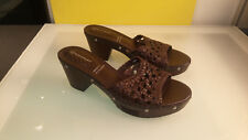 Rockport Meja Woven leather heel sandals barely used Adiprene women's size 7.5