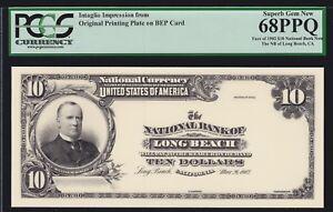 BEP Intaglio 1902 $10 National Bank Note Obverse PCGS 68 PPQ Sup GEM CU