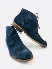 Franco Sarto 5379 Womens Heathrow Blue Ankle Boots Shoes 7 Medium