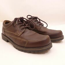 CHAPS Men's Brown Leather Lace Up Oxford Shoes Size 10.5M
