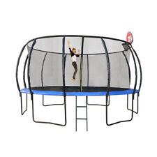 New 16Ft 488cm Trampoline With Safety Net And Free Basketball Hoop Ball Set