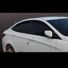 Smoke Window Sun Visors Rain Guards for Hyundai Solaris Accent 4door 2011~2015
