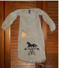 Primitive Decor HORSE WEATHERVANE NIGHTSHIRT Grungy,Cupboard Hanger,Prim,Country