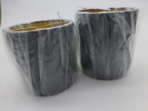 "2 Nice New Allure Drum Style Lamp Shades Black With Gold Lining 4"" X 4"" X 4.5"""