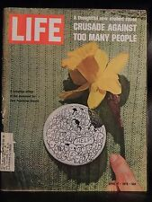 LIFE April 17,1970 Zero Population Growth Button / Turkey / Pablo Casals
