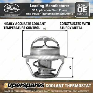 Gates Coolant Thermostat + Gaskets & Seals for Holden Statesman VS VQ VR WH WK