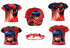 Camiseta de niña de 2 a 16 años de color principal rojo 100% algodón