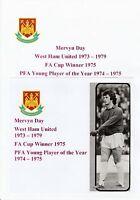 MERVYN DAY WEST HAM UNITED 1973-1979 ORIGINAL HAND SIGNED MAGAZINE CUTTING/CARD