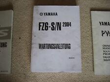 YAMAHA FZ6 - S/N, HANDBOOK, DRIVER'S GUIDE, MAINTENANCE MANUAL, BOOK, 2004