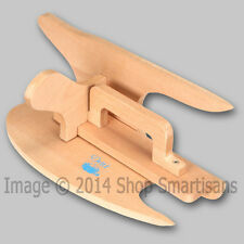 DRITZ 2-IN-1 TAILOR BOARD/CLAPPER Wood Ironing Press Points & Curves Creases