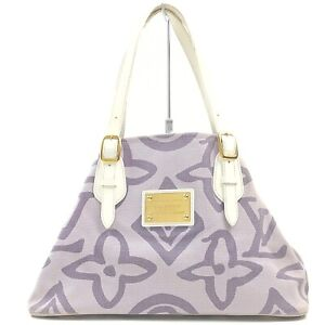 Louis Vuitton Tote Bag Tahitienne PM M95674 Purple Cruise Line 709406