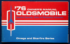 Owner's Manual Betriebsanleitung 1976 Oldsmobile Omega + Starfire   (USA)