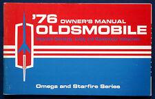 Owner's Manual Betriebsanleitung 1976 Oldsmobile Omega + Starfire   (USA)