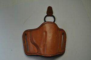 Bianchi 105 Minimalist Size 9 Right Hand Belt Slide Holster Brown Leather